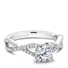 Load image into Gallery viewer, Noam Carver White Gold Engagement Ring B004-03WM-075A - Fifth Avenue Jewellers