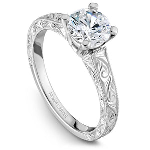 Noam Carver White Gold Engagement Ring B006-03WME-100A - Fifth Avenue Jewellers
