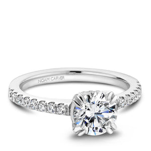 Noam Carver White Gold Engagement Ring B009-01WM-100A - Fifth Avenue Jewellers