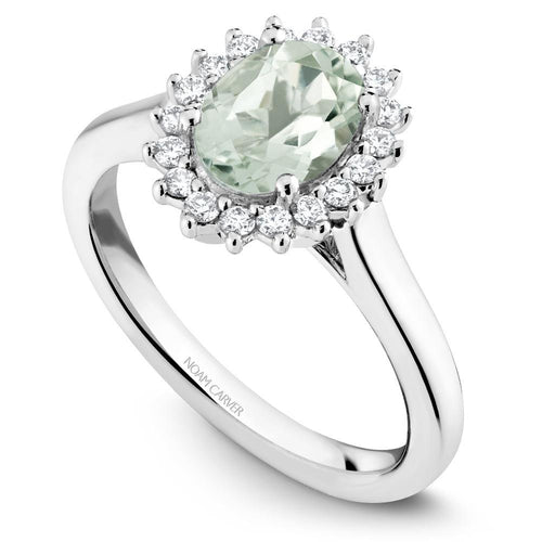 Noam Carver White Gold Green Amethyst Ring G010-01WM-8x6G - Fifth Avenue Jewellers