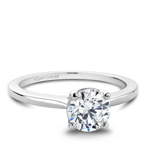 Noam Carver White Gold Solitaire Ring B018-01WM-100A - Fifth Avenue Jewellers