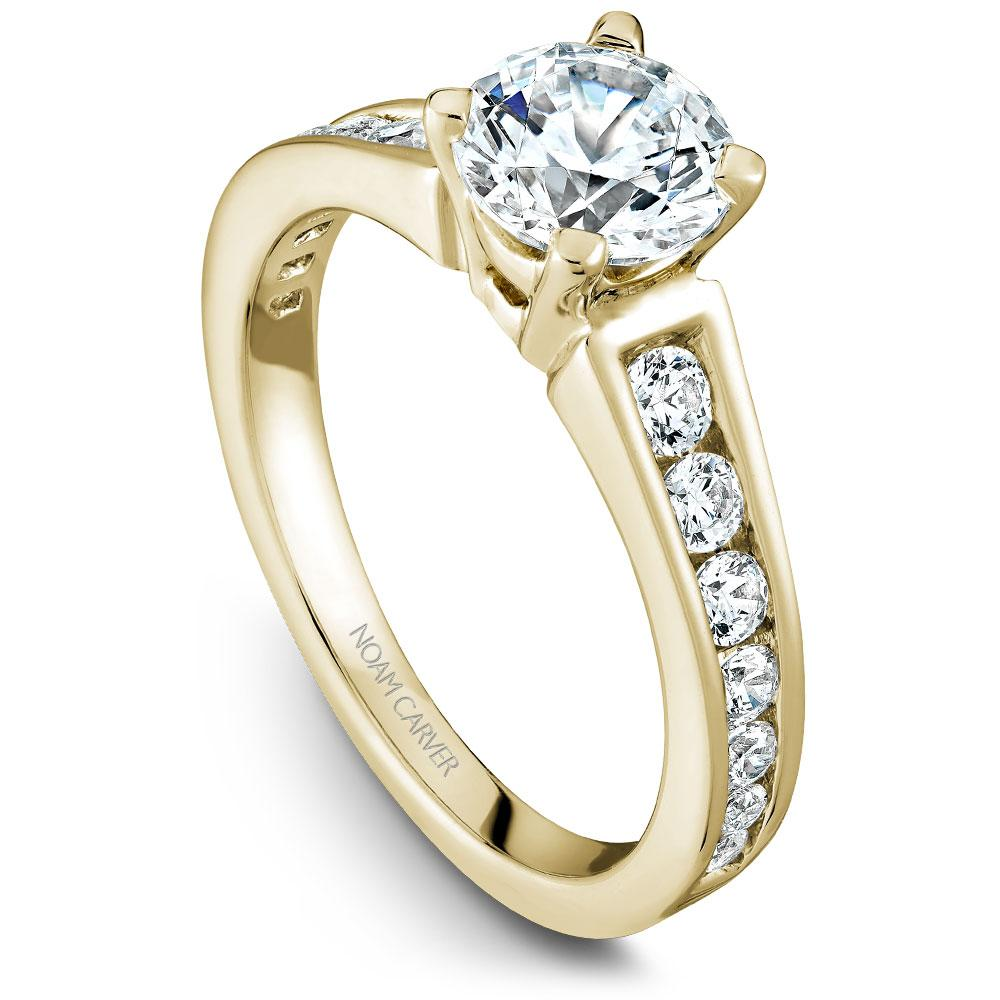 Noam Carver Yellow Gold Engagement Ring B006-01YWM-050A - Fifth Avenue Jewellers
