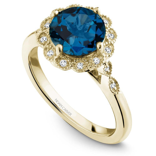 Noam Carver Yellow Gold London Blue Topaz Ring G003-01YM-800L - Fifth Avenue Jewellers