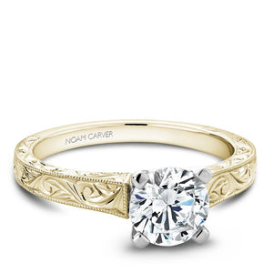 Noam Carver Yellow Gold Solitaire Ring B006-03YWME-075A - Fifth Avenue Jewellers