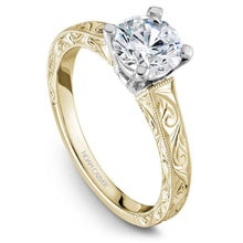 Load image into Gallery viewer, Noam Carver Yellow Gold Solitaire Ring B006-03YWME-075A - Fifth Avenue Jewellers