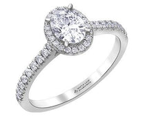 Load image into Gallery viewer, Oval Diamond Engagement Ring With Halo - Fifth Avenue Jewellers