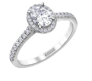 Oval Diamond Engagement Ring With Halo - Fifth Avenue Jewellers