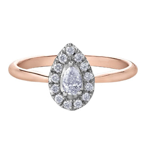Pear Cut Diamond Halo Engagement Ring - Fifth Avenue Jewellers