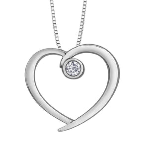 Precious Heart Pendant Necklace With Diamond Accent - Fifth Avenue Jewellers