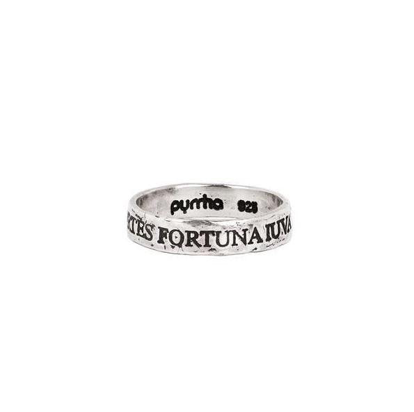 Pyrrha Band Ring Fortes Fortuna Iuvat (Fortune Favors the Brave) - Fifth Avenue Jewellers