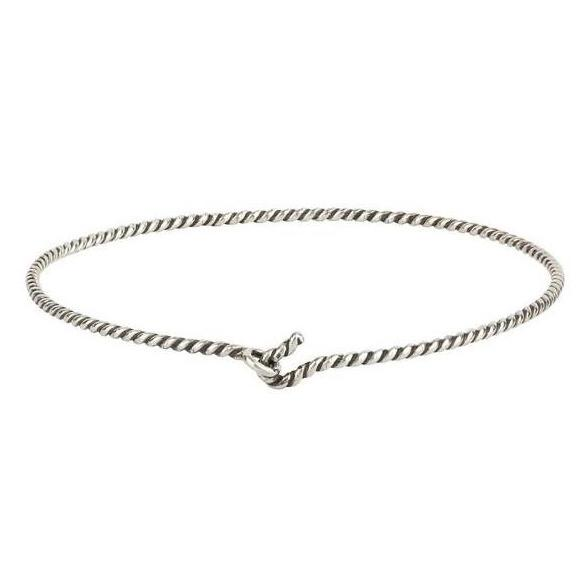 Pyrrha Bangle Silver Twisted Charm Holder - Fifth Avenue Jewellers