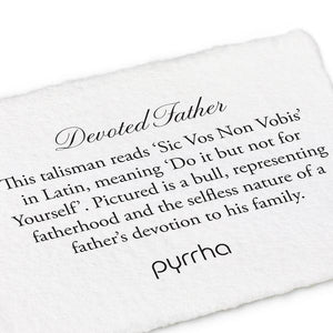 Pyrrha Key Chain Devoted Father - Fifth Avenue Jewellers