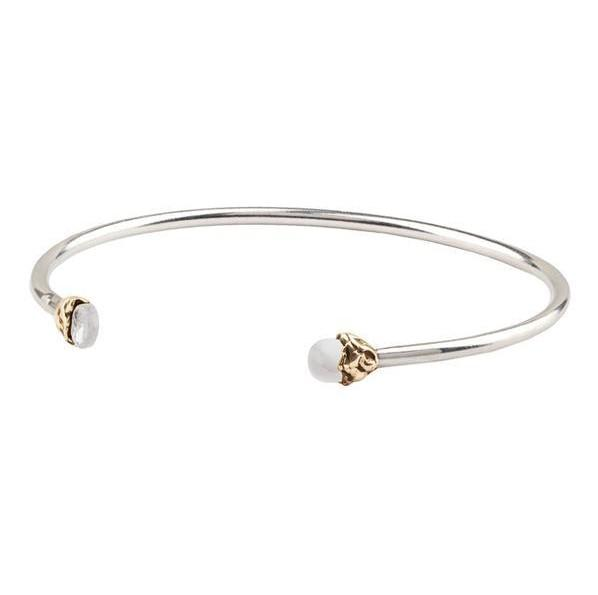 Pyrrha Open Bangle Serenity Capped Attraction Charm - Fifth Avenue Jewellers