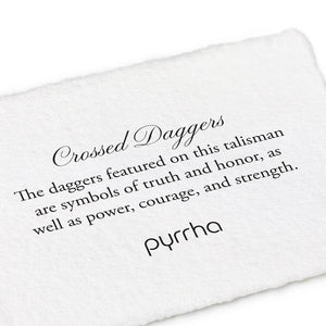Pyrrha Talisman Crossed Daggers - Fifth Avenue Jewellers