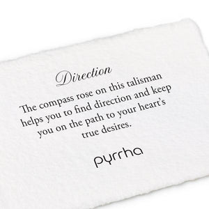 Pyrrha Talisman Direction 14K Gold On Silver - Fifth Avenue Jewellers