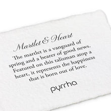 Load image into Gallery viewer, Pyrrha Talisman Martlet and Heart - Fifth Avenue Jewellers