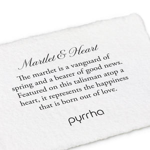 Pyrrha Talisman Martlet and Heart - Fifth Avenue Jewellers