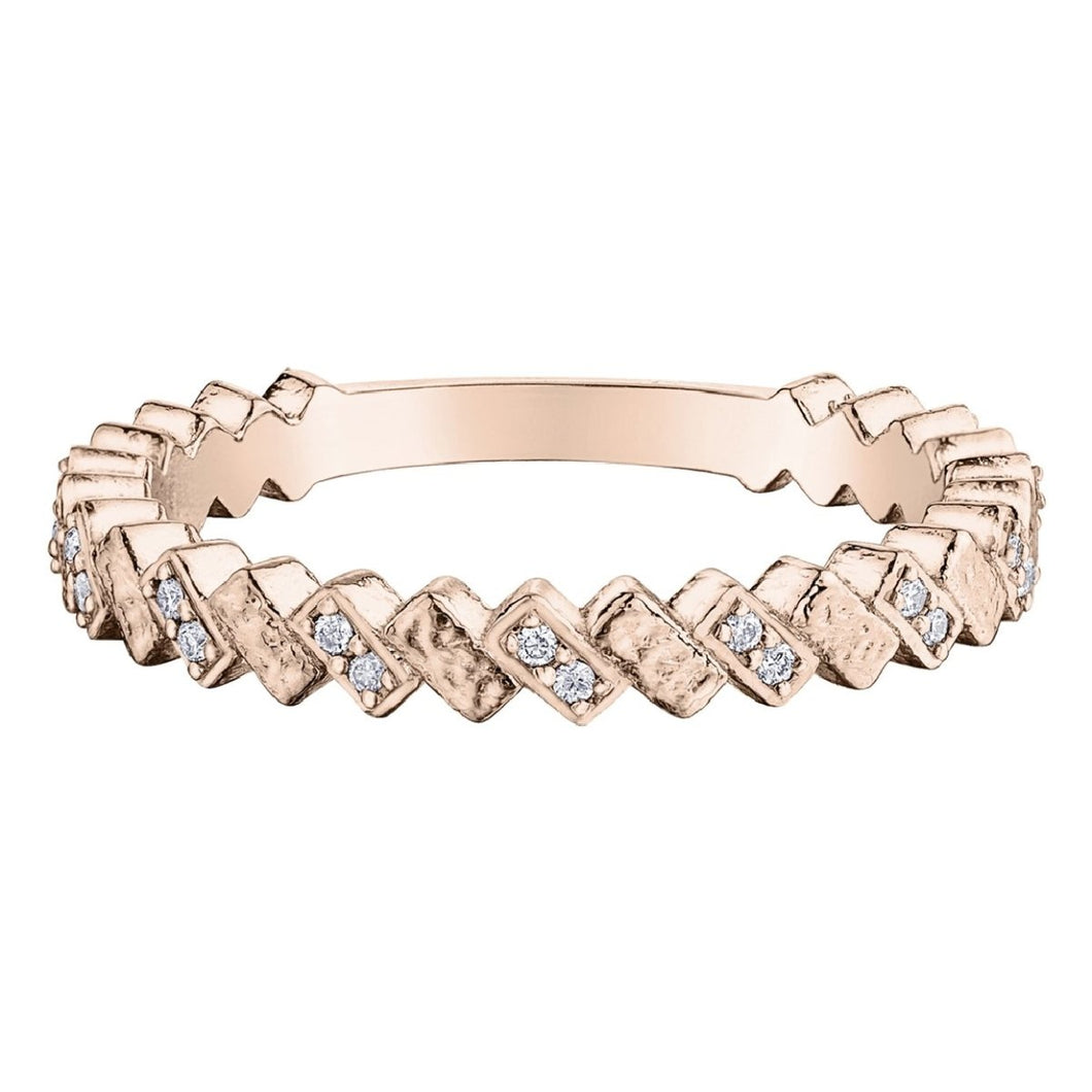 Rectangular Bars Pattern Diamond Stack Band - Fifth Avenue Jewellers