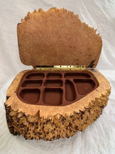 Load image into Gallery viewer, Robert Andrews Hand Carved Maple Burl Jewellery Box - Fifth Avenue Jewellers