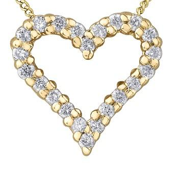 Romantic Diamond Heart Necklace - Fifth Avenue Jewellers