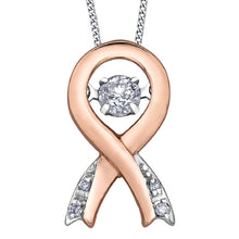 Load image into Gallery viewer, Rose Gold And Diamond Ribbon Pulse Pendant - Fifth Avenue Jewellers