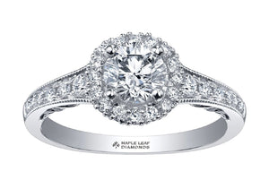 Round Diamond Ladies Engagement Ring in White Gold - Fifth Avenue Jewellers