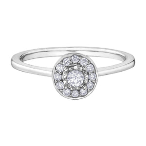 Round Diamond Promise Ring in White Gold - Fifth Avenue Jewellers