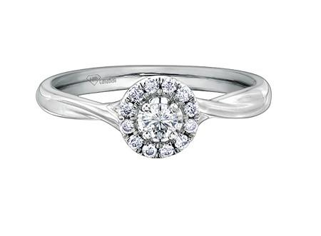 Round Halo Engagement Ring - Fifth Avenue Jewellers