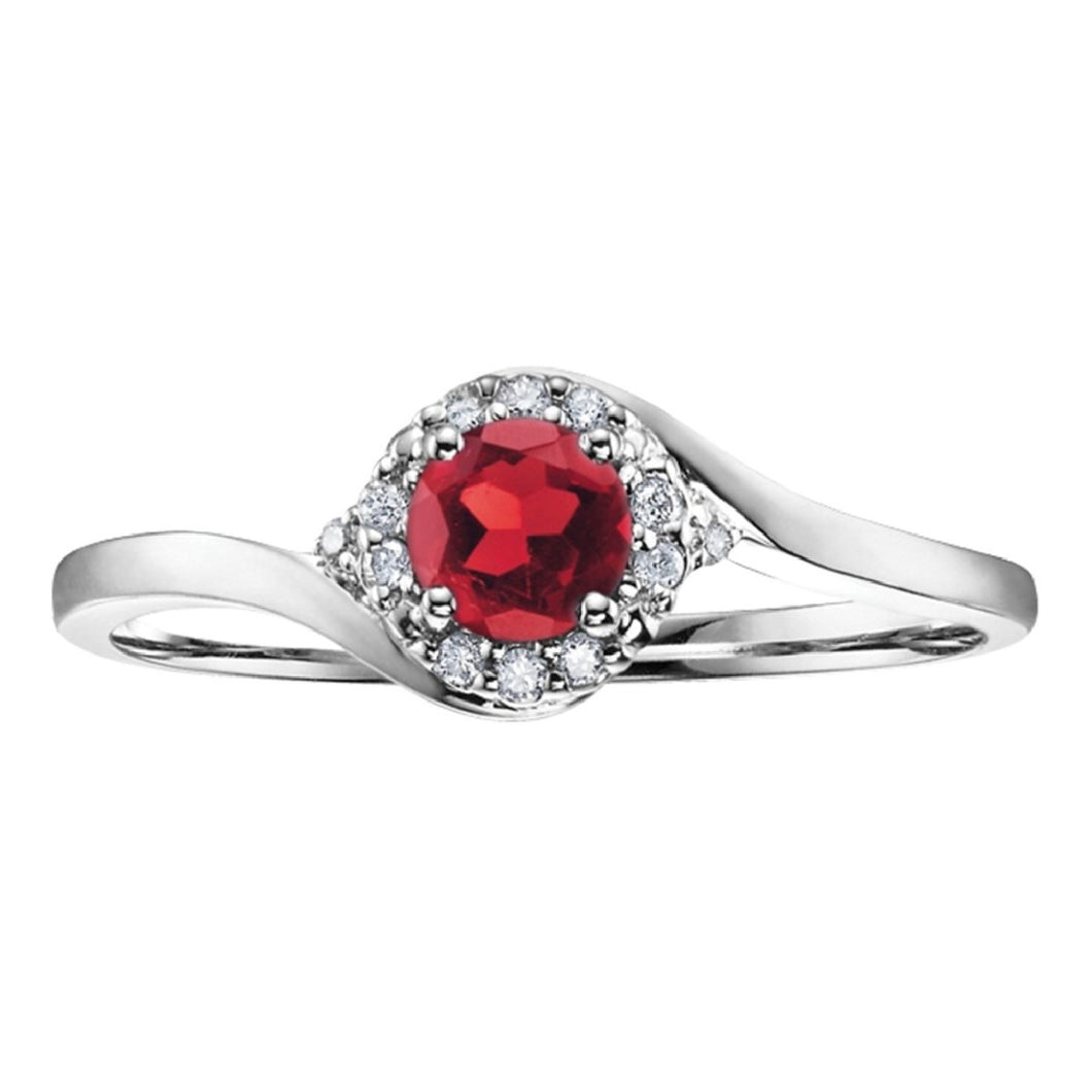 Ruby Love Diamond Ring in White Gold - Fifth Avenue Jewellers