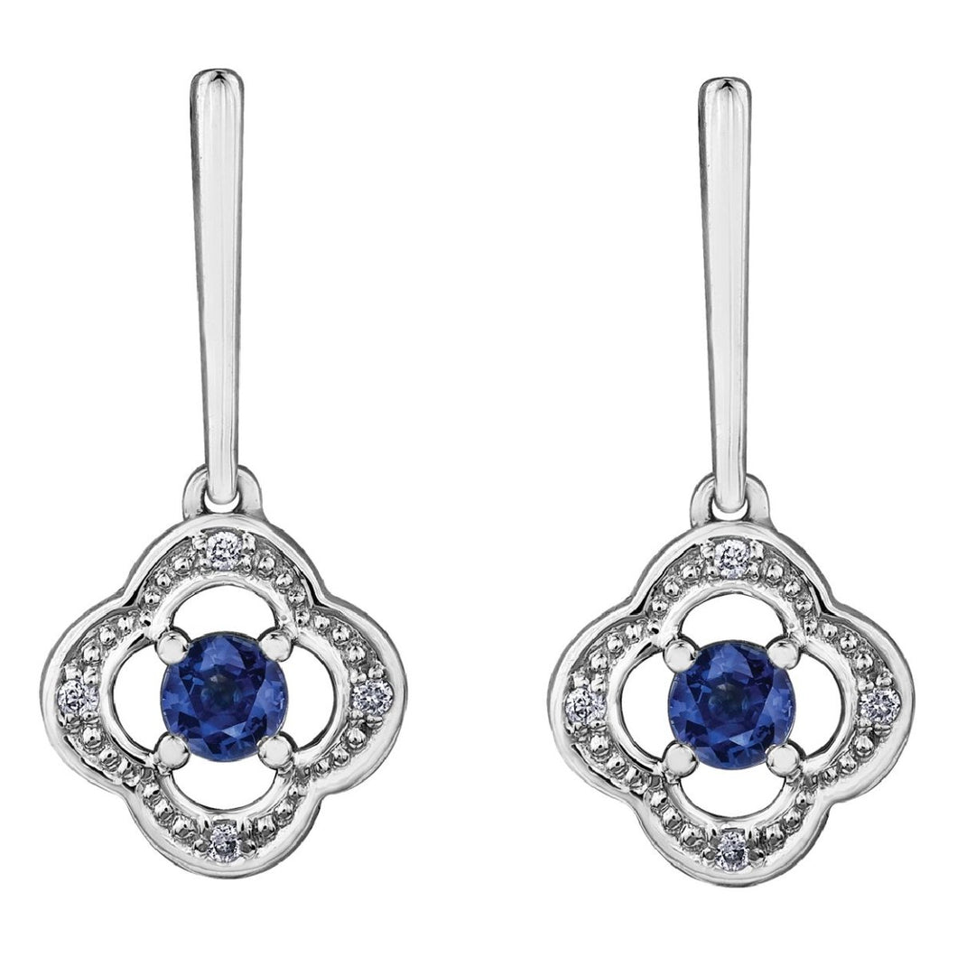 Sapphire Splash Drop Earrings With Diamonds - Fifth Avenue Jewellers