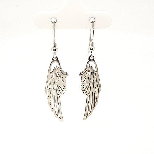 Silver Wing Drop Earrings - Fifth Avenue Jewellers