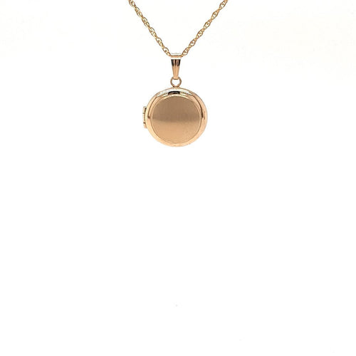 Simple Circle Locket In Yellow Gold - Fifth Avenue Jewellers