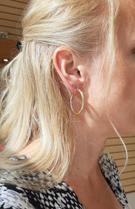 Sleek Gold Hoops - Fifth Avenue Jewellers