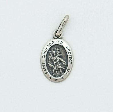 Small Oval Silver St Christopher Medal - Fifth Avenue Jewellers