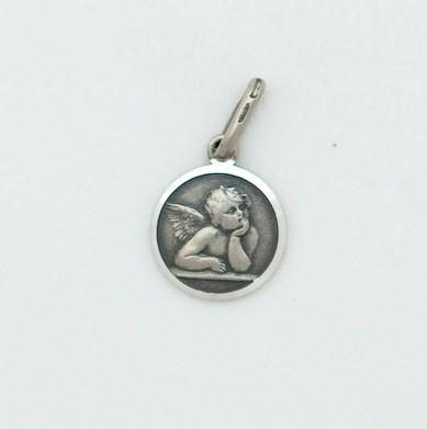 Small Silver Guardian Angel Medal - Fifth Avenue Jewellers