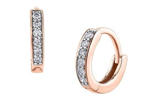 Tiny Diamond Huggies in Rose Gold - Fifth Avenue Jewellers