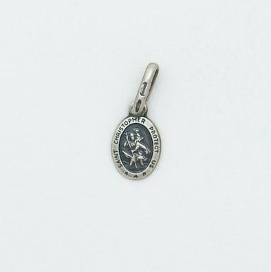 Tiny Silver St Christopher Medal - Fifth Avenue Jewellers