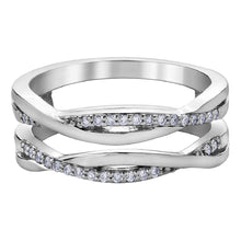 Load image into Gallery viewer, Twisted Double Band Diamond Ring in White Gold - Fifth Avenue Jewellers
