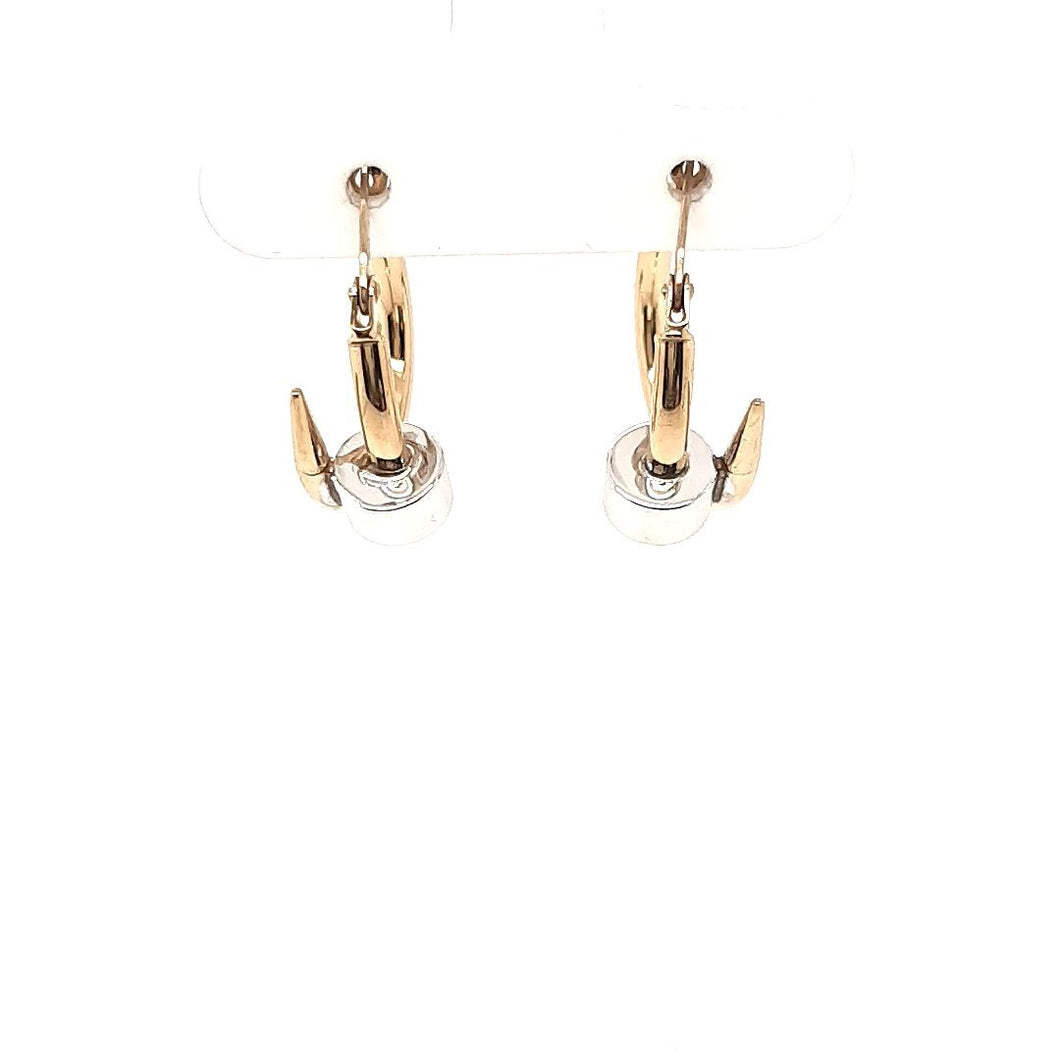 Two Tone Nail Hoops - Fifth Avenue Jewellers