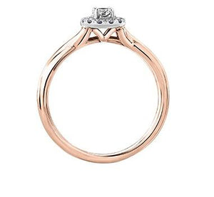 White and Rose Gold Canadian Diamond Engagement Ring - Fifth Avenue Jewellers