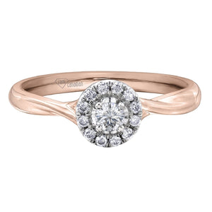 White and Rose Gold Canadian Diamond Engagement Ring AM363RW20 - Fifth Avenue Jewellers