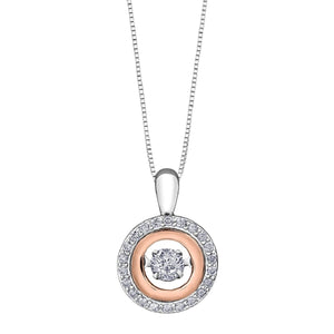 White And Rose Gold Pulse Pendant DD7280 - Fifth Avenue Jewellers