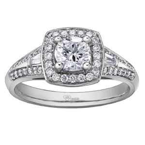 White Gold and Canadian Diamond Engagement Ring AM263W45 - Fifth Avenue Jewellers
