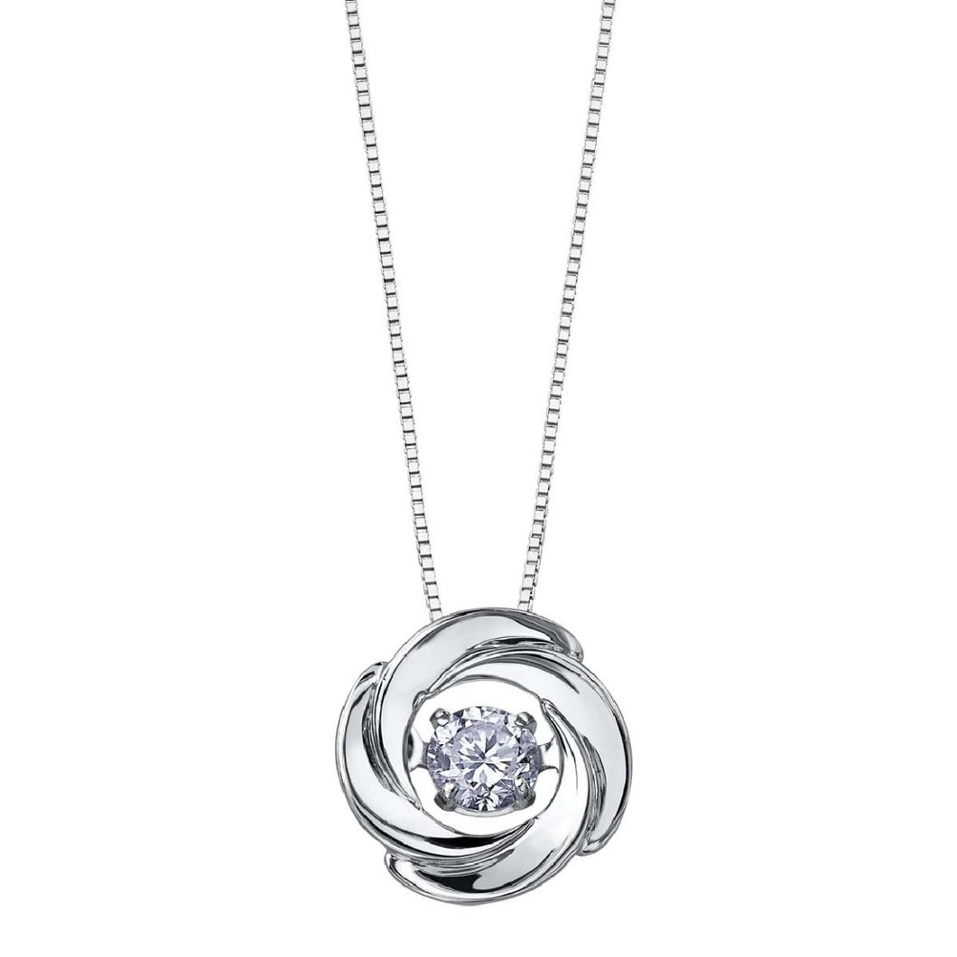 White Gold And Diamond Pulse Pendant DD7277 - Fifth Avenue Jewellers