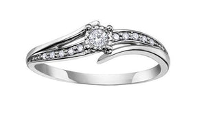 White Gold Bypass Ring - Fifth Avenue Jewellers