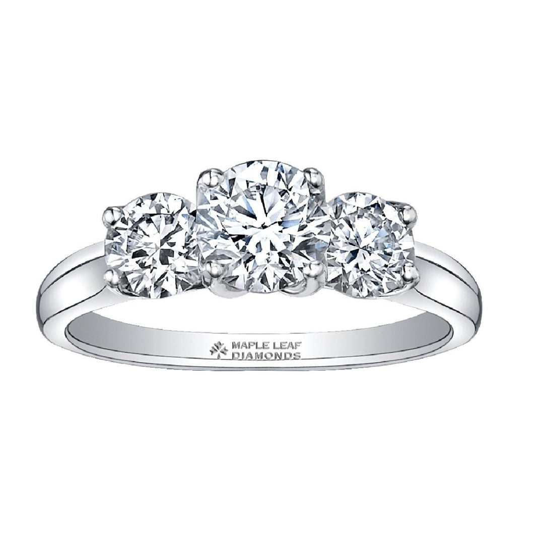White Gold Three Stone Engagement Ring ML110W150 - Fifth Avenue Jewellers