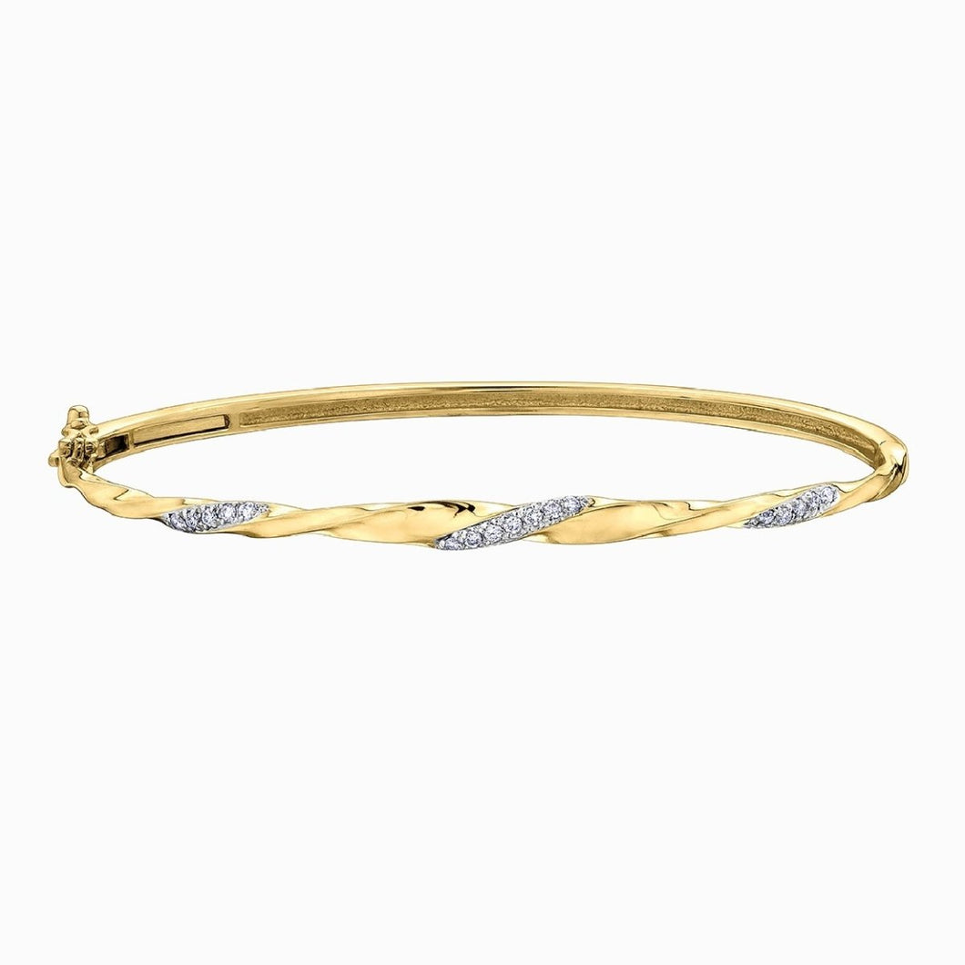 Yellow Gold And Diamond Bracelet DD3155 - Fifth Avenue Jewellers