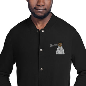 Embroidered NWN Worth It and Champion Collab Bomber Jacket