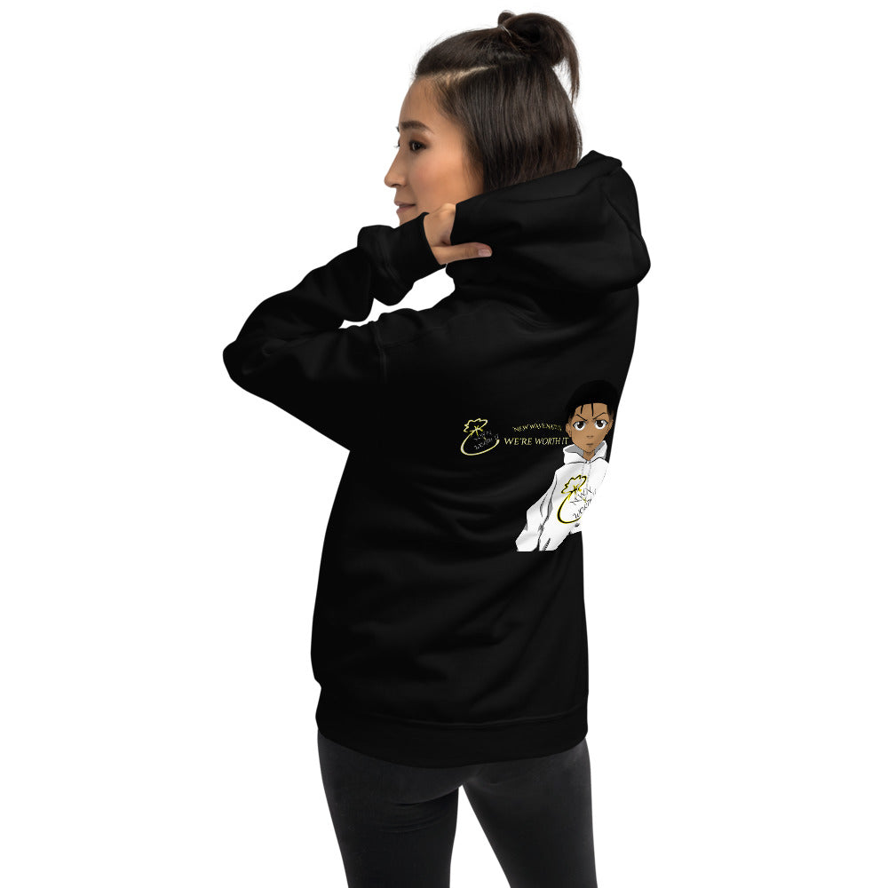NWN Worth It Hoodie (Unisex) Logo On Back Only