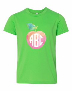 Watercolor Apple Monogram | Kids